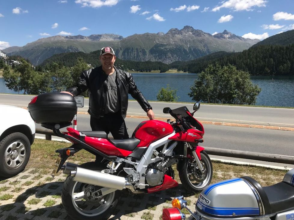 Our Chris on his epic motorbike tour to Italy