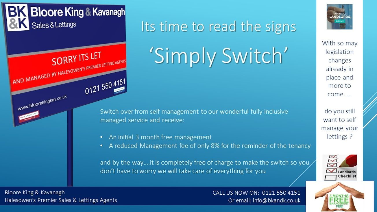 Simply Switch...The easy cost effective way of getting your let property managed